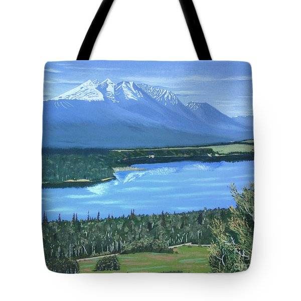 Reflecting Across The Valley Tote Bag