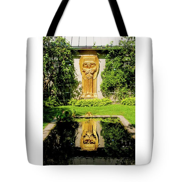 Tote Bag featuring the photograph Reflecting Art by Greg Fortier