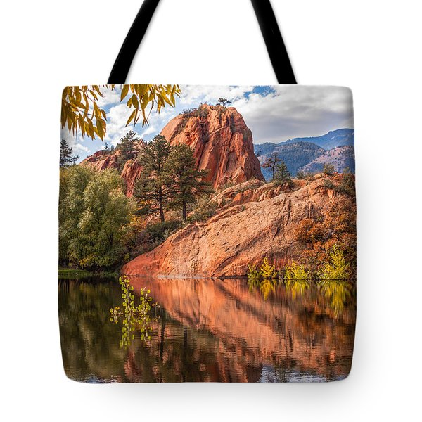 Reflecting At Red Rocks Open Space Tote Bag