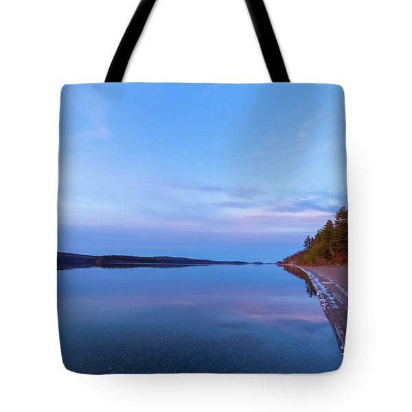 Tote Bag featuring the photograph Reflecting At The Reservoir by Brian Hale