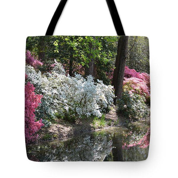 Reflecting Azaleas Tote Bag