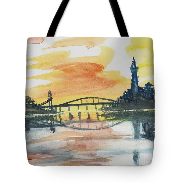 Reflecting Bridge Tote Bag