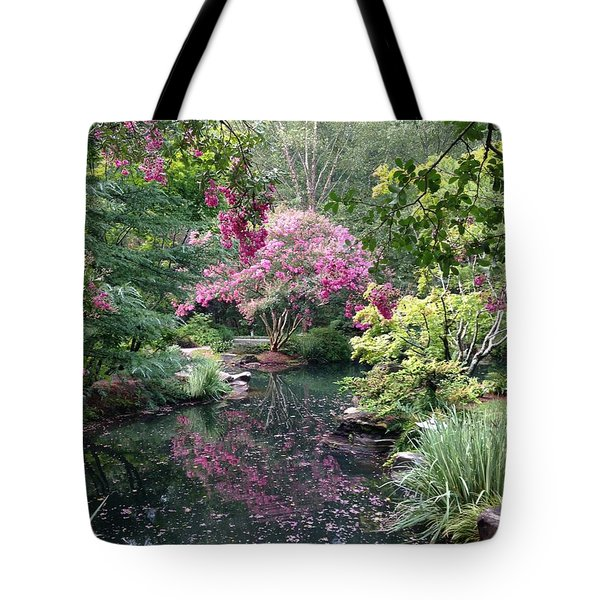 Reflecting Crape-myrtles Tote Bag