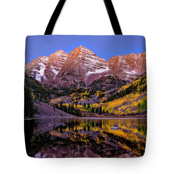 Tote Bag featuring the photograph Reflecting Dawn by Bitter Buffalo Photography