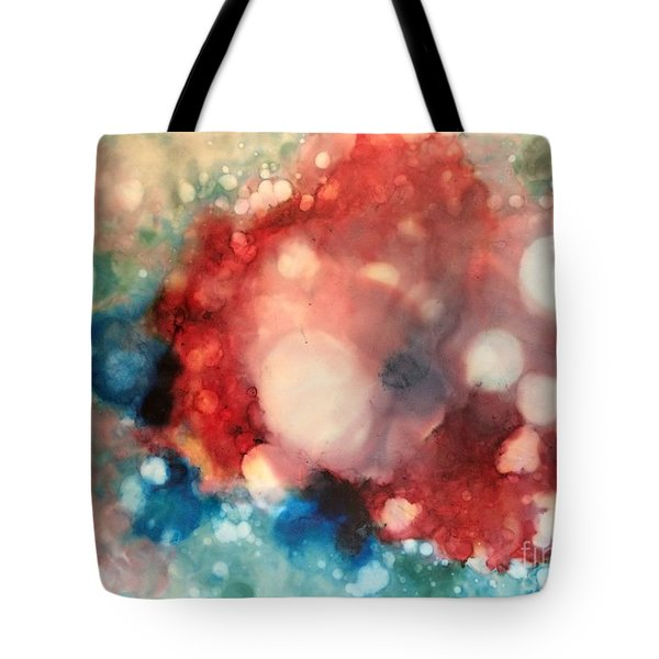 Tote Bag featuring the painting Reflecting by Denise Tomasura