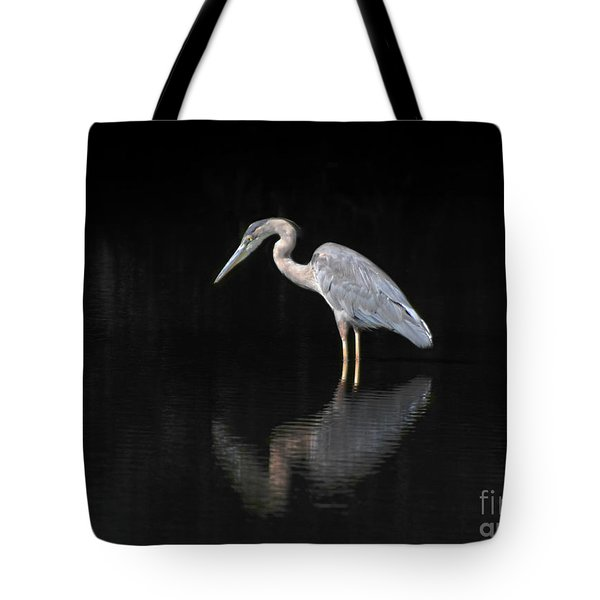 Reflecting Heron Tote Bag