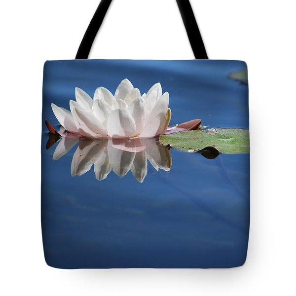 Tote Bag featuring the photograph Reflecting In Blue Water by Amee Cave