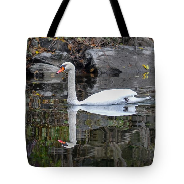 Reflecting Mute Swan Tote Bag