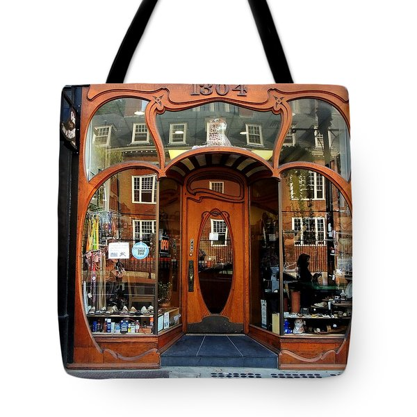 Reflecting On A Cambridge Shoe Shine Tote Bag
