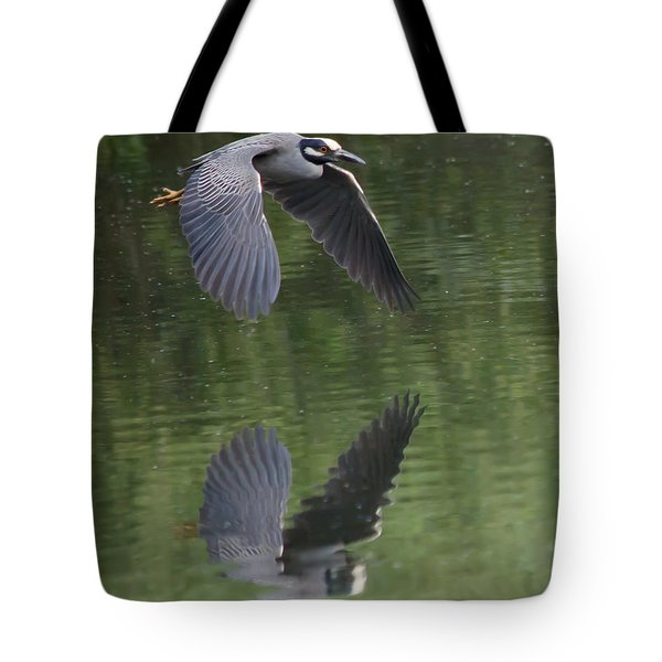 Reflecting On Flight Tote Bag