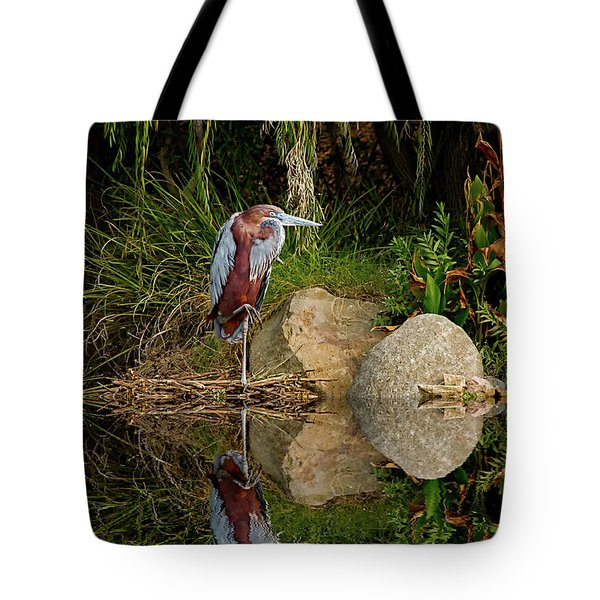Reflecting On Lunch Tote Bag