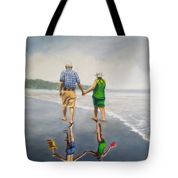 Reflecting On The Past  Tote Bag by Jason Marsh