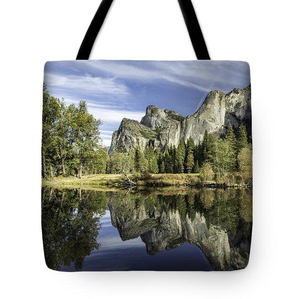 Reflecting On Yosemite Tote Bag