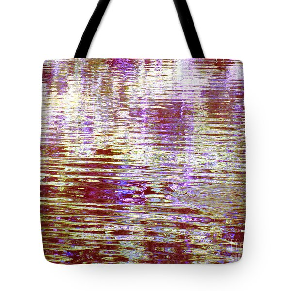 Reflecting Purple Water Tote Bag