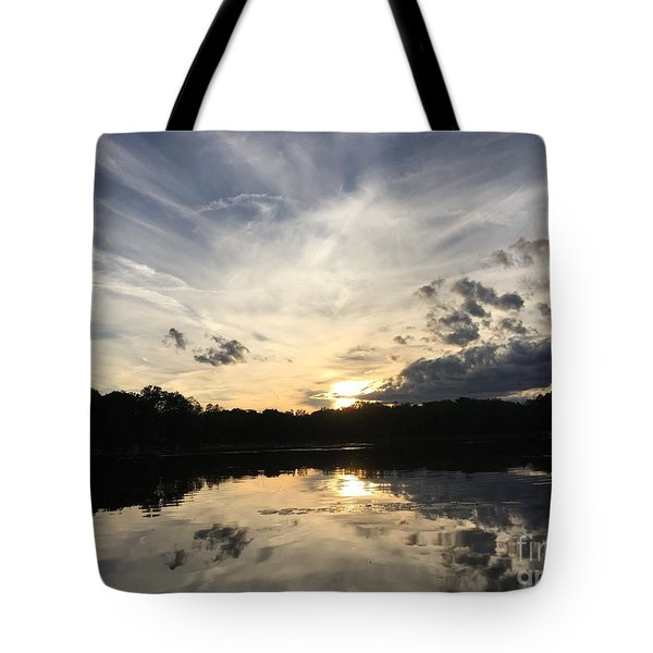 Reflecting Upon The Sky Tote Bag by Jason Nicholas