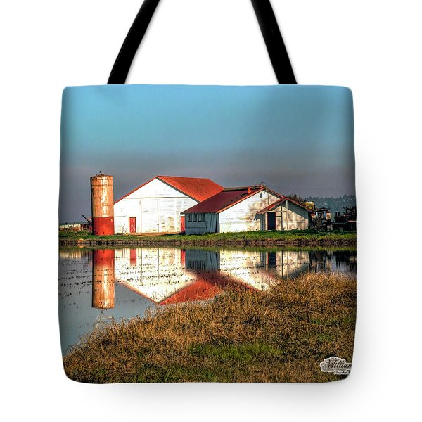 Reflection Barn  Tote Bag