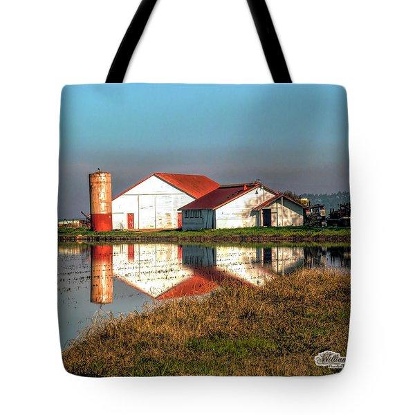 Reflection Barn  Tote Bag