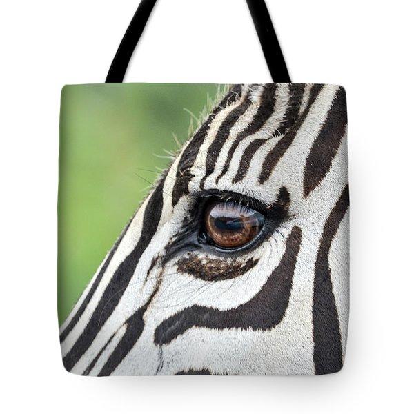 Reflection In A Zebra Eye Tote Bag
