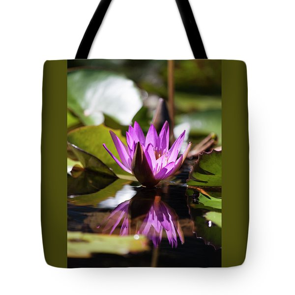 Tote Bag featuring the photograph Reflection In Fuchsia by Suzanne Gaff