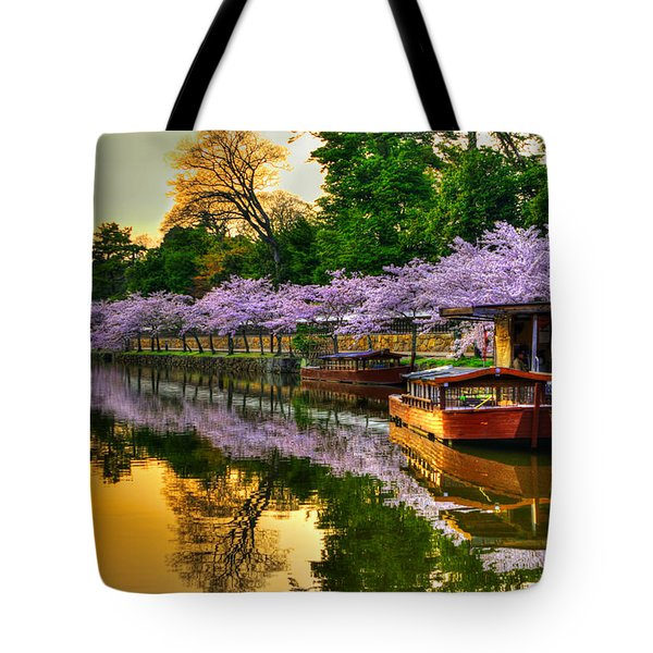 Reflection In Gold Tote Bag