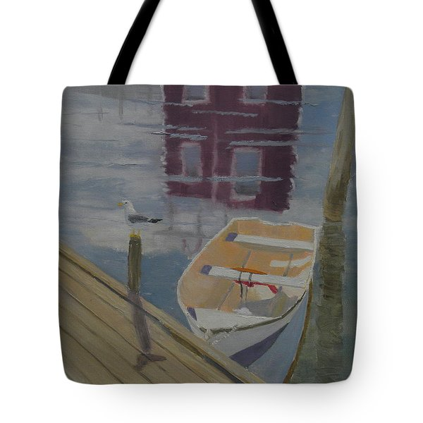 Reflection In Red Tote Bag