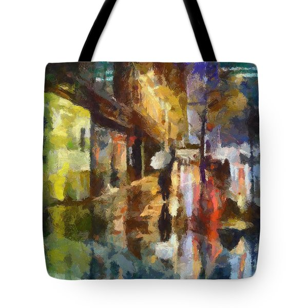 Reflection In The Rain Tote Bag