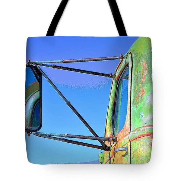 Reflection In The Rear View Mirror Tote Bag