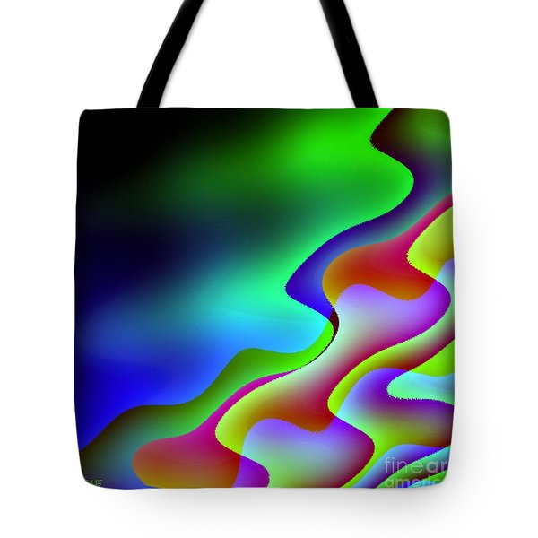Tote Bag featuring the digital art Reflection In The Water by Dragica  Micki Fortuna
