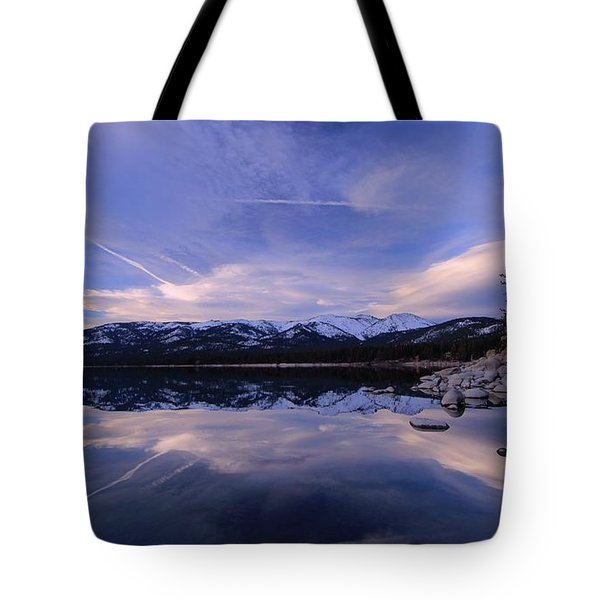 Tote Bag featuring the photograph Reflection In Winter by Sean Sarsfield