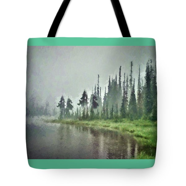 Reflection Lake, Mt Rainier Fine Art Print Tote Bag