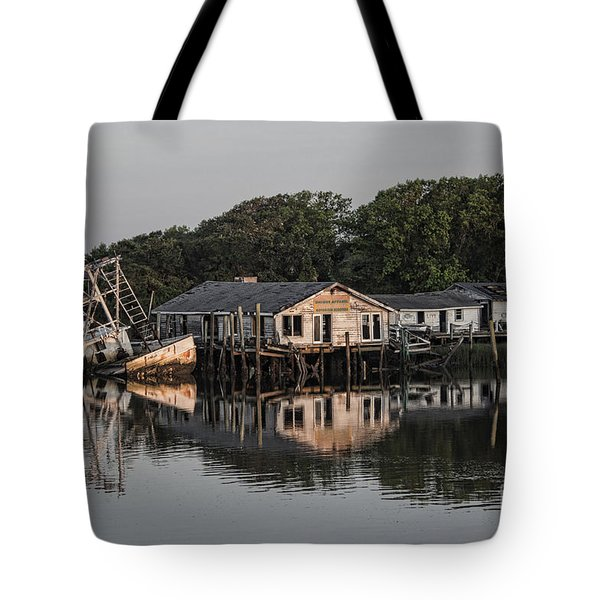 Reflection Noitcelfer Tote Bag by Roberta Byram