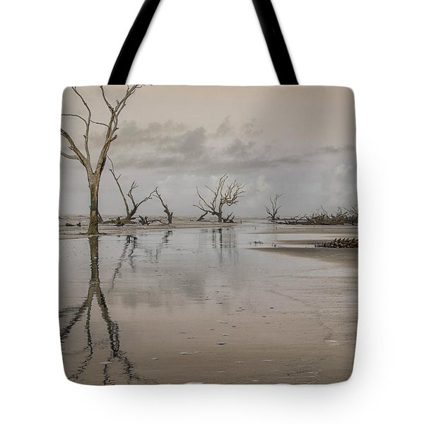 Reflection Of A Dead Tree Tote Bag