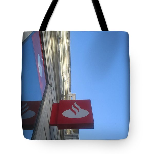 Reflection Of A Symbol In The Window Tote Bag