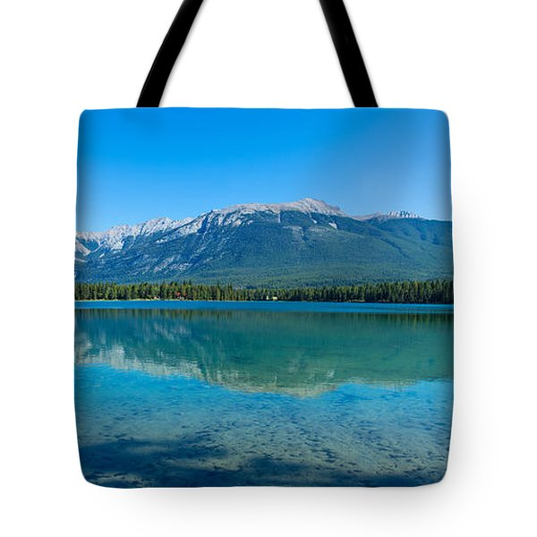 Reflection Of Canadian Rockies Tote Bag
