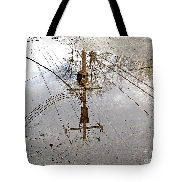 Puddle Reflections  Tote Bag by Sandra Church