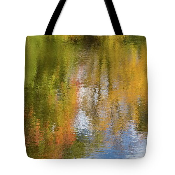 Reflection Of Fall #1, Abstract Tote Bag