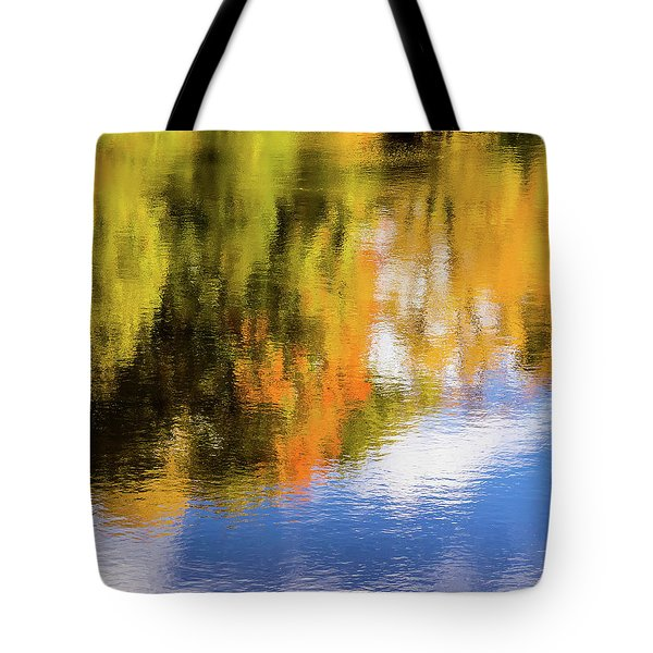 Reflection Of Fall #2, Abstract Tote Bag