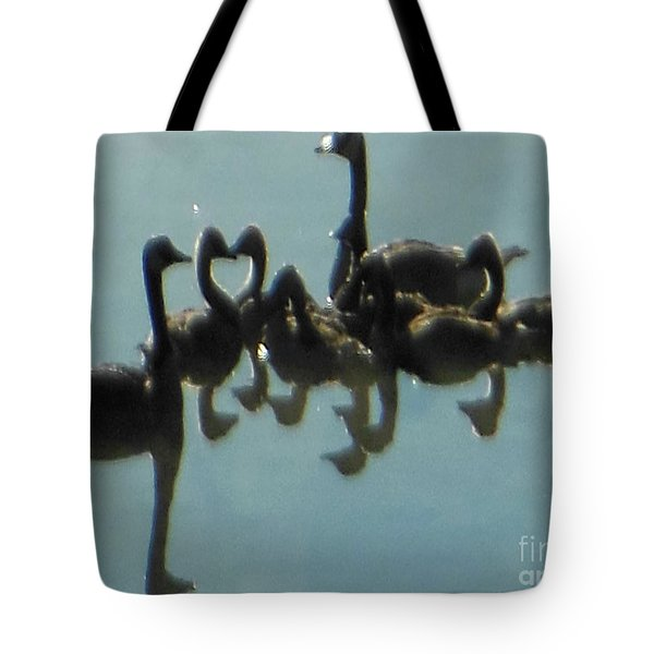 Reflection Of Geese Tote Bag