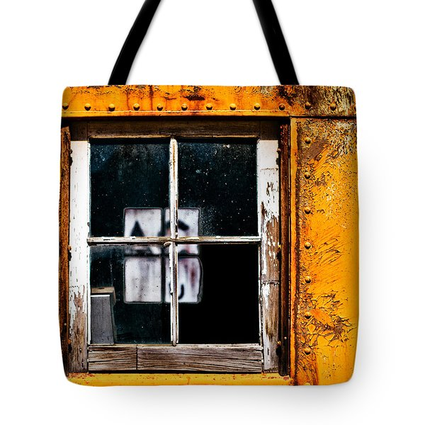 Reflection Of Light In The Midst Of Decay Tote Bag