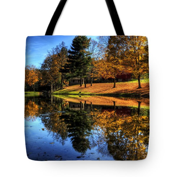 Reflection Of Northeast Ohio Fall Tote Bag