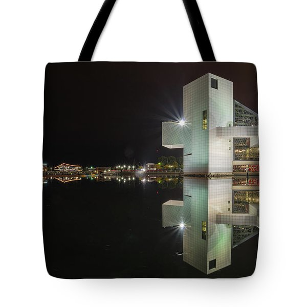 Reflection Of Rock And Roll In Cleveland Tote Bag