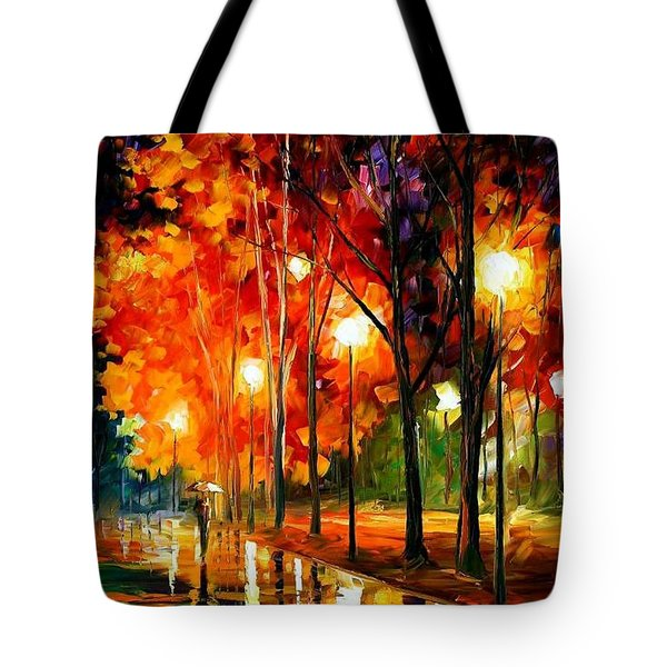 Reflection Of The Night  Tote Bag by Leonid Afremov