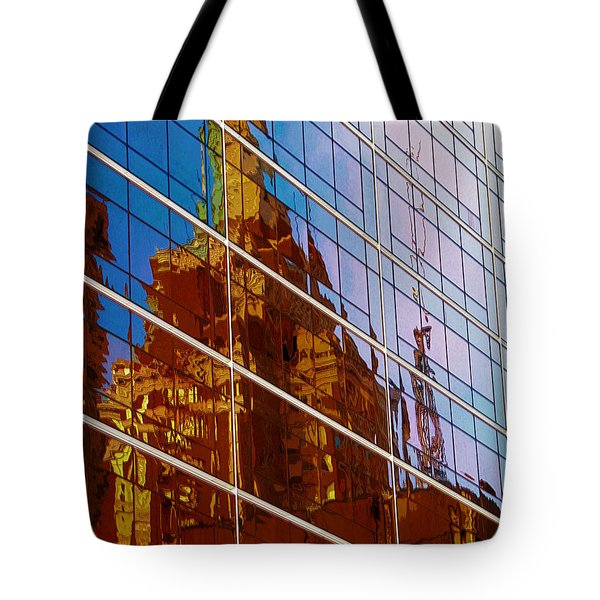 Reflection Of The Past - Tulsa Tote Bag