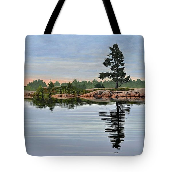 Reflection On The Bay Tote Bag