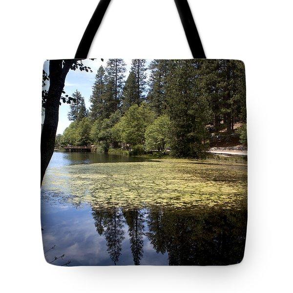 Reflection On The Lake Fulmor Tote Bag