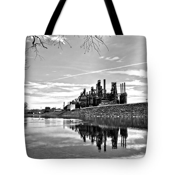 Reflection On The Lehigh Tote Bag