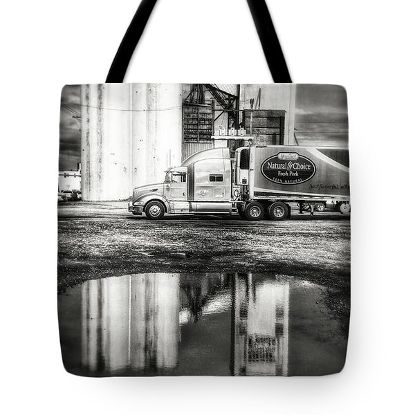 Reflection Puddle Tote Bag by Dustin Soph