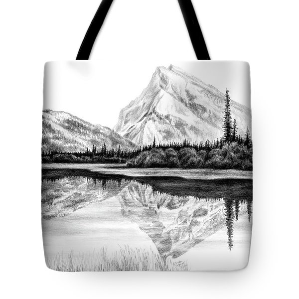 Reflections - Mountain Landscape Print Tote Bag