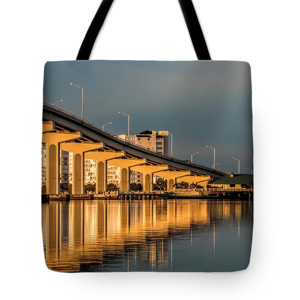 Reflections And Bridge Tote Bag by Dorothy Cunningham