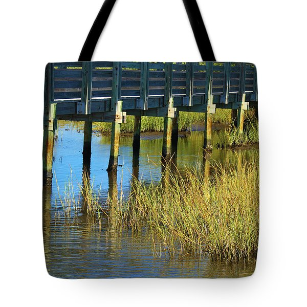 Reflections And Sea Grass Tote Bag